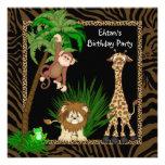 Jungen-Dschungel-Safari-Geburtstags-Party Ankündigungen