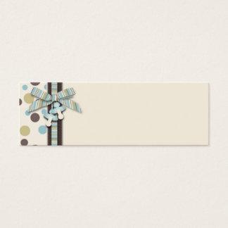 Jungen-dünner Geschenk-Umbau 2 Mini Visitenkarte