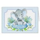 Jungen-Elefant-Babyparty danken Ihnen Karten