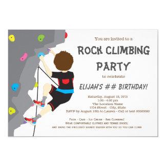 Jungen-Felsen-Kletterngeburtstags-Party 12,7 X 17,8 Cm Einladungskarte