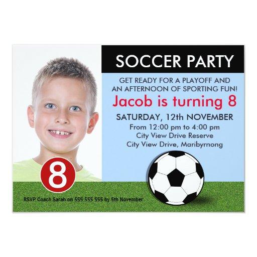 Jungen-Foto-Fußball-Geburtstags-Einladung 11,4 X 15,9 Cm ...