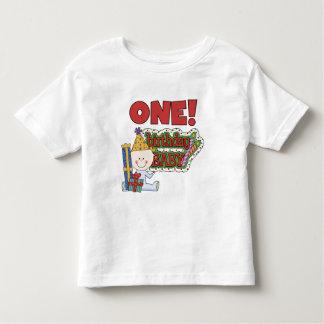 Jungen-Geburtstags-Baby-1. Geburtstags-T-Shirts Hemden