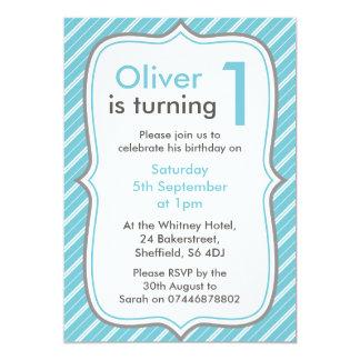 Jungen-Geburtstags-Party Einladung