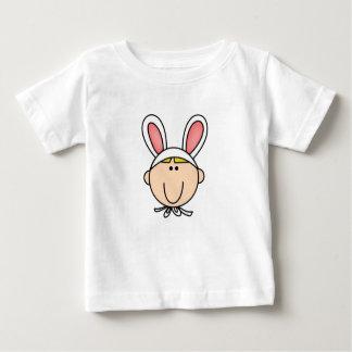 Jungen-Häschen-blondes Haar-T-Shirt Baby T-shirt