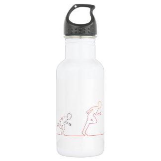 Jungen-Kindheits-Ehrgeiz und Jagen seiner Träume Edelstahlflasche