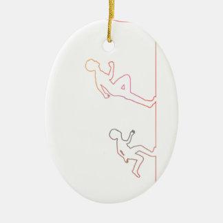 Jungen-Kindheits-Ehrgeiz und Jagen seiner Träume Keramik Ornament
