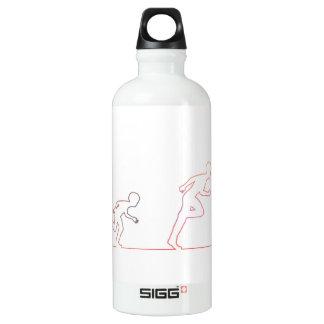 Jungen-Kindheits-Ehrgeiz und Jagen seiner Träume Wasserflasche