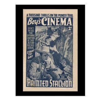 Jungen-Kino 1938 - der gemalte Stallion Postkarte