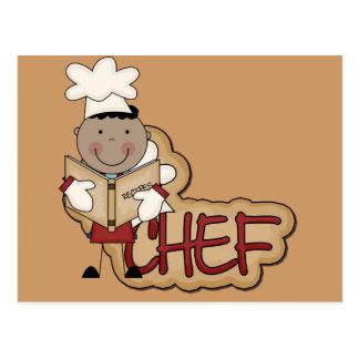 Jungen-Koch - afrikanische amerikanische T-Shirts Postkarte