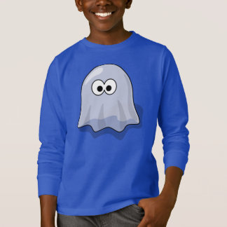 Jungen-langes Hülsen-Shirt mit Geist T-Shirt