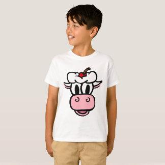 JUNGEN-MÄDCHEN DER EISCREME-KUH-Weiß T - Shirt