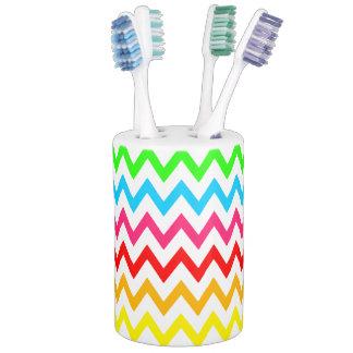Jungen-Mädchen-heller bunter Zickzack Regenbogen Badezimmer-Set