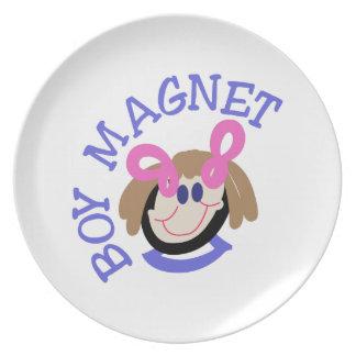 Jungen-Magnet Flacher Teller