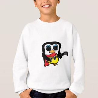 Jungen-Pinguin mit E-Gitarre Sweatshirt