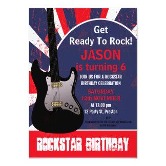Jungen-Rockstar-Gitarren-Geburtstags-Einladung 11,4 X 15,9 Cm Einladungskarte