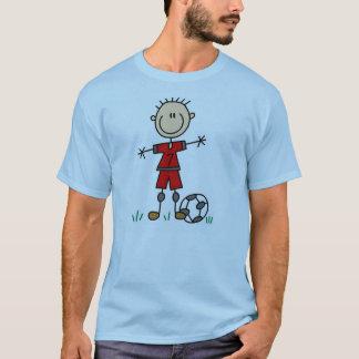 Jungen-roter einheitlicher Fußball T-Shirt