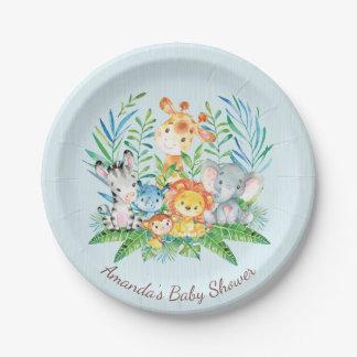 """Jungen-Safari-Dschungel-Babyparty 7"""" Platte Pappteller"""