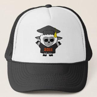 Jungen-Schafe schwarz u. Orangen-Absolvent 2011 Truckerkappe