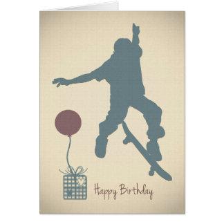 Jungen-Skateboarding Geburtstags-Karte Karte