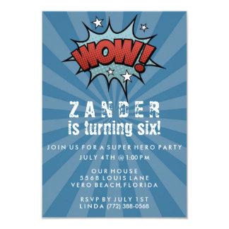 Jungen-Superheld-Comic-Geburtstags-Party Einladung