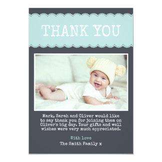 Jungen-Taufe danken Ihnen zu kardieren Karte