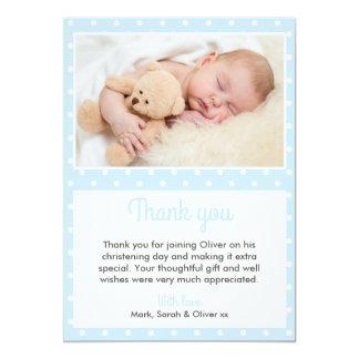 Jungen-Taufe/Taufe danken Ihnen zu kardieren 12,7 X 17,8 Cm Einladungskarte