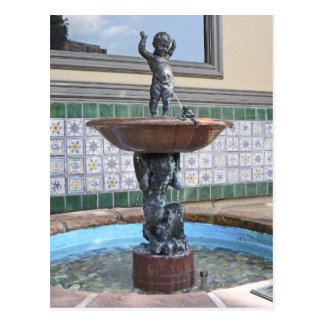 Jungen-und Frosch-Brunnen durch Raffaello Postkarte