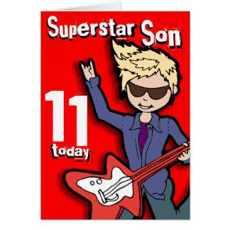 Jungenkarte des 11. Geburtstages des Karte