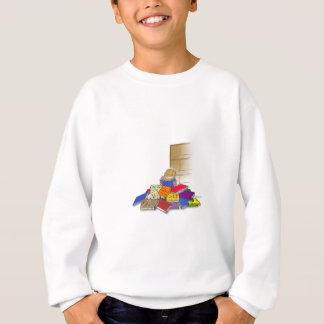 Jungenkleinkind umgeben durch Bücher Sweatshirt