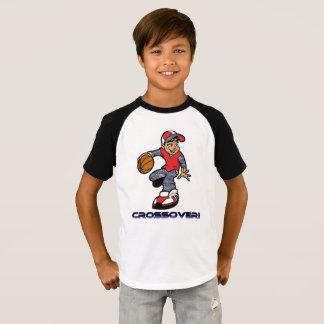 Jungenkreuzthema-Basketball-T - Shirt