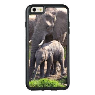 Junger afrikanischer Elefant mit Baby OtterBox iPhone 6/6s Plus Hülle
