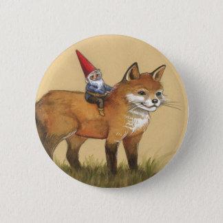Junger Gnome und Fox Runder Button 5,7 Cm