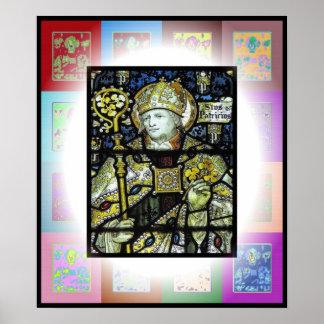 Junger Heiliger Patrick Poster