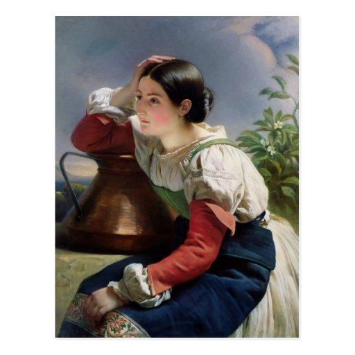 Junger Italiener an gut, c.1833-34 Postkarte