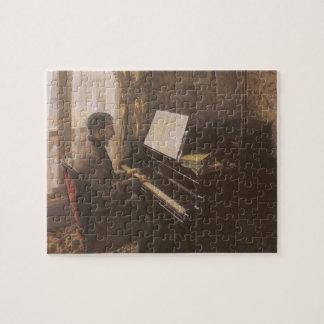 Junger Mann, der das Klavier durch Gustave Puzzle