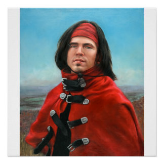 Junger Mann in einem roten Kap durch Julia Morgan Poster