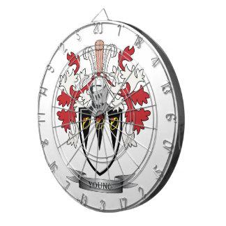 Junges Familienwappen-Wappen Dartscheibe