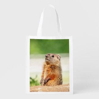 Junges Groundhog Wiederverwendbare Einkaufstasche