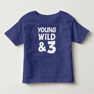 Junges Shirt des wilden und lustiges des Babys 3