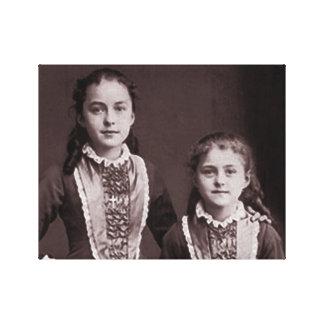 Junges St. Therese von Lisieux und Schwester Leinwanddruck