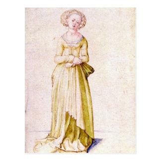 Jungfrau Albrecht Durer - Nürnbergs im Tanzkleid Postkarte