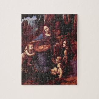 Jungfrau der Felsen durch Leonardo da Vinci Puzzle