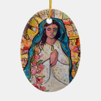 Jungfrau der Guadalupe-Weihnachtsverzierung Keramik Ornament