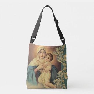 Jungfrau Madonna Mary mit Baby Jesus Tragetaschen Mit Langen Trägern