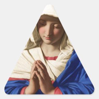 Jungfrau Mary Dreieckiger Aufkleber