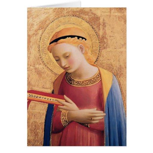 Jungfrau Mary Fra Angelico- kündigen an Grußkarte
