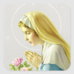 Jungfrau-Mary-Gebets-Aufkleber