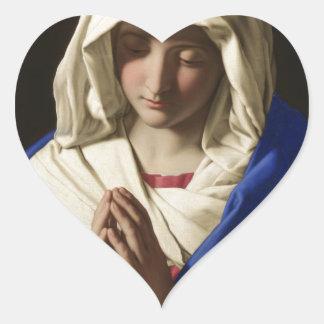 Jungfrau Mary Herz-Aufkleber