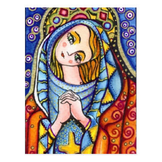 Jungfrau Mary Postkarte