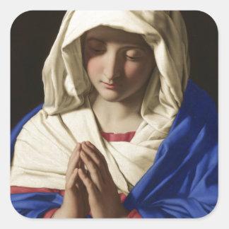 Jungfrau Mary Quadratischer Aufkleber